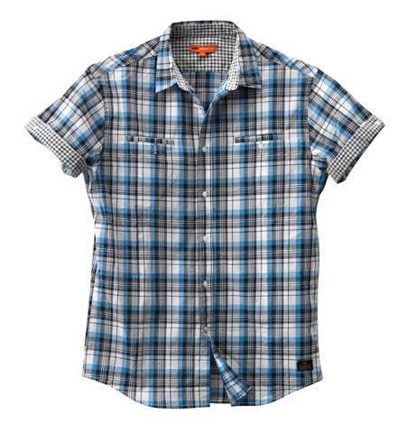 chemisette ktm check bleue spw2012