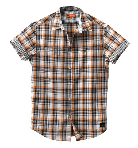 chemisette ktm check orange spw2012
