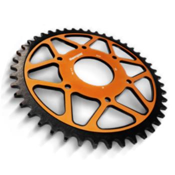 COURONNE ACIER SUPERSPROX EDGE ORANGE 45 DENTS KTM 125/390 DUKE 14-20/ RC 125/390 14-20/ 390 ADVENTURE 20
