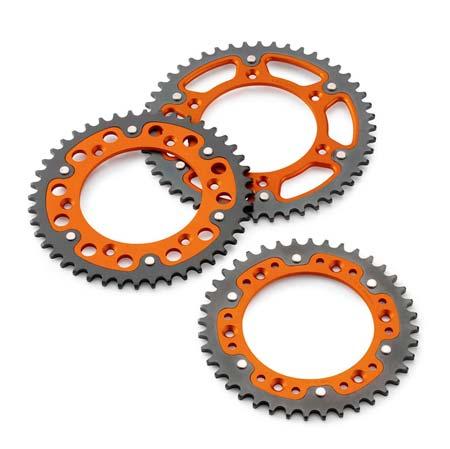 couronne aluminium orange piste en acier