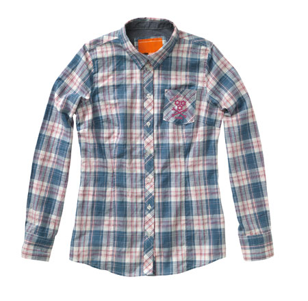 girls checked longsleeve shirt