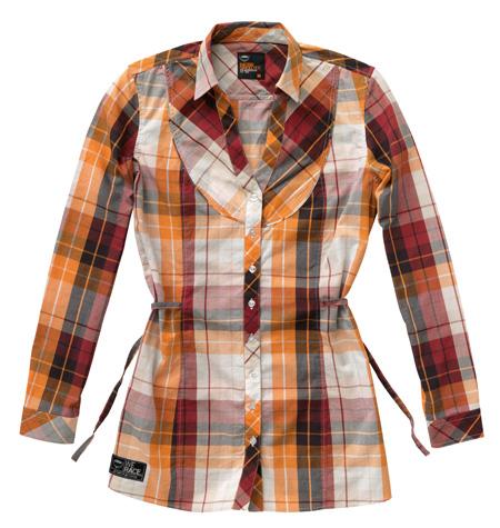 girls checkered blouse