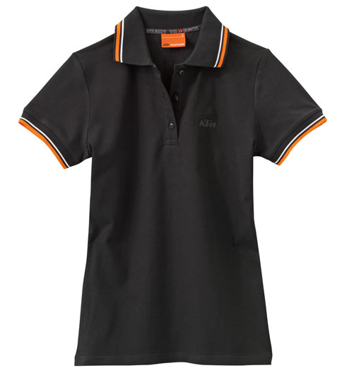 girls polo black