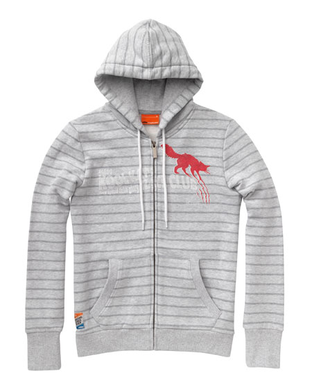 girls scratch hooded sweatjacket