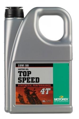 HUILE BOITE 2T MOTOREX TOP SPEED 4T 15W50 4L