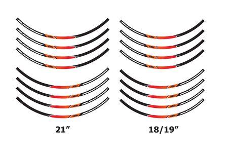 JEU STICKERS JANTE RACING KTM 21/18-19 POUCES