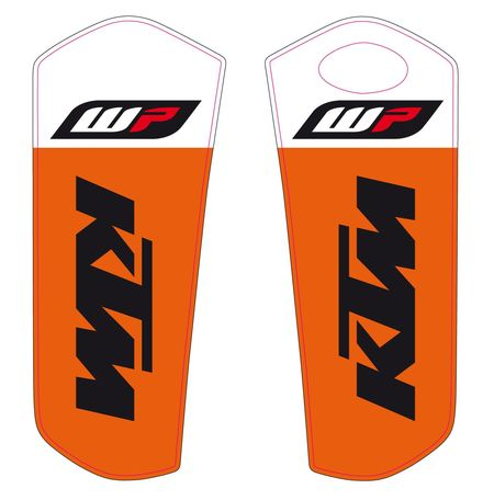 JEU STICKERS PROTECTION FOURCHE WP KTM SX 15-18/ EXC 16-18
