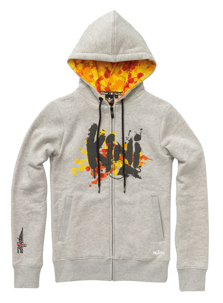 kini rb girls splattered zip hoodie