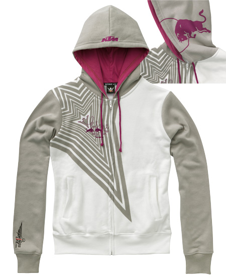 kini rb girls zip hoodie white
