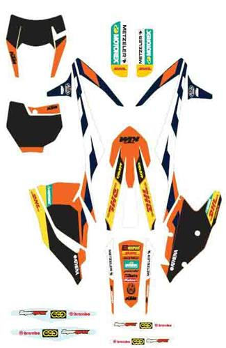 KIT DECO COMPLET FACTORY ENDURO KTM EXC 17