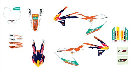 KIT DECO COMPLET FACTORY KTM 65 SX 16