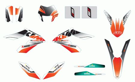 KIT DECO COMPLET RACE LINE KTM FREERIDE 350/250 R