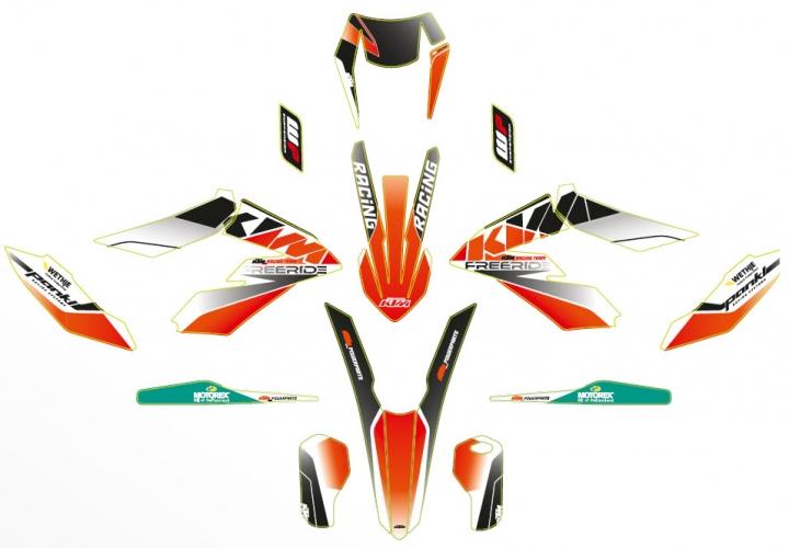 KIT DECO COMPLET RACE LINE KTM FREERIDE 250 F 18/ FREERIDE E-XC 18