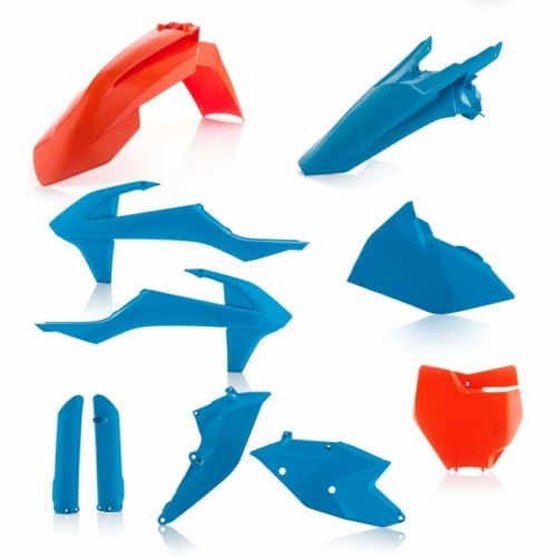 KIT PLASTIQUE ACERBIS BLEU/ORANGE EDITION LIMITEE KTM 125/150 SX 16-18/ 250 SX 17-18/ SX-F 16-18