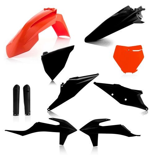 KIT PLASTIQUE ACERBIS NOIR/ORANGE EDITION LIMITEE KTM SX/ SX-F 19