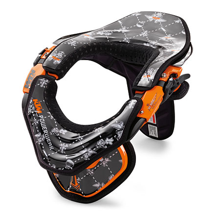 kit sticker neck brace ktm noir