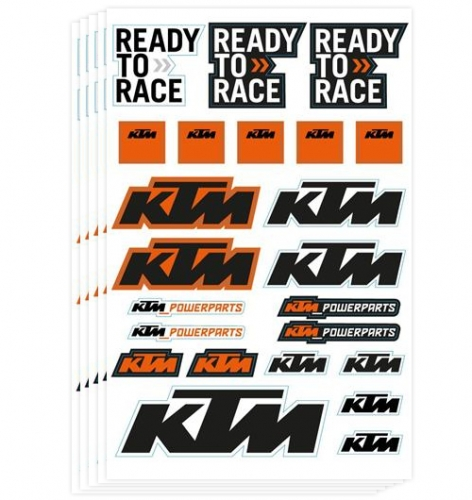 KIT 5X PLANCHES STICKERS KTM 17