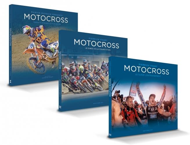 LIVRES MOTOCROSS TRILOGIE GUIDE DE L'ENTRAINEMENT/ GUIDE DU PILOTAGE/ GUIDE DE LA COMPETITION FRANCAIS