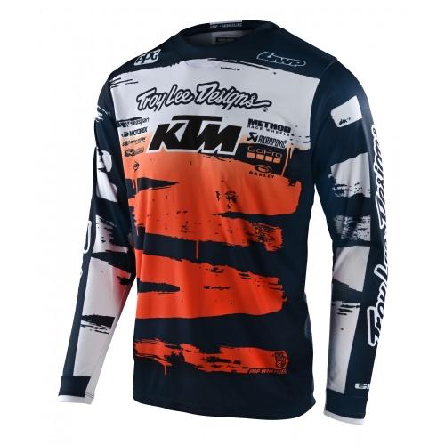 MAILLOT MX TROY LEE DESIGNS GP BRUSHED TEAM KTM NAVY/ORANGE