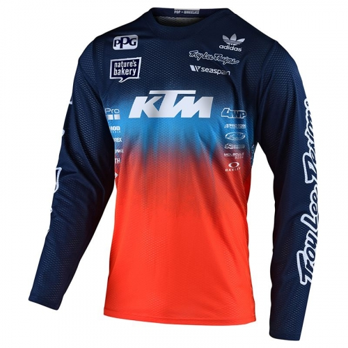 MAILLOT MX TROY LEE DESIGNS GP AIR STAIN D TEAM KTM BLEU/ORANGE