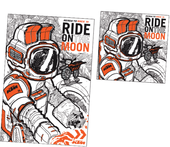 parure de lit ktm ride on the moon. Black Bedroom Furniture Sets. Home Design Ideas