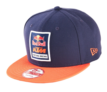 casquette red bull ktm factory racing logo navy orange. Black Bedroom Furniture Sets. Home Design Ideas
