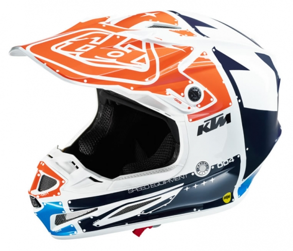 Casque Mx Ktm Troy Lee Designs Se4 Pro Neptune 19