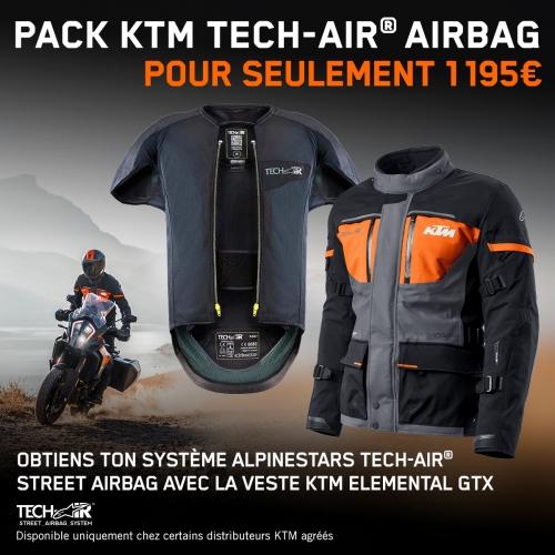 PACK KTM TECH-AIR AIRBAG ALPINESTARS ELEMENTAL GTX 21