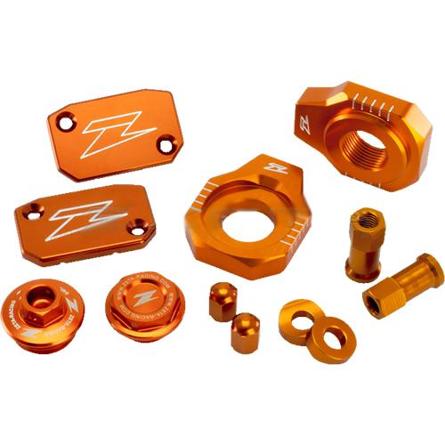 PACK PIECES ANODISEES ORANGES ZETA KTM 125/150 SX 16-17/ SX/SX-F 13-17