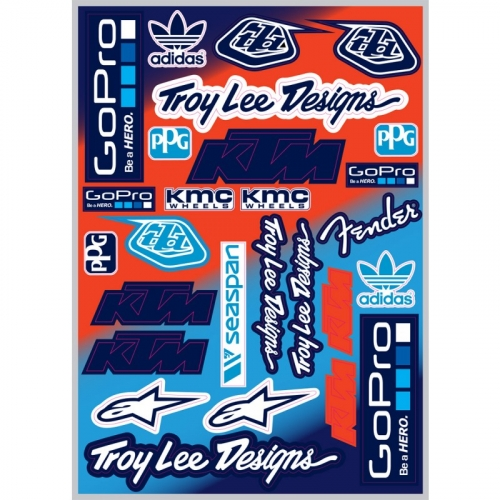 PLANCHE STICKER NSTYLE TEAM KTM TROY LEE DESIGNS GOPRO