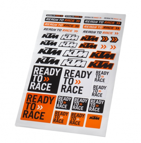 PLANCHE STICKERS KTM CORPORATE 20