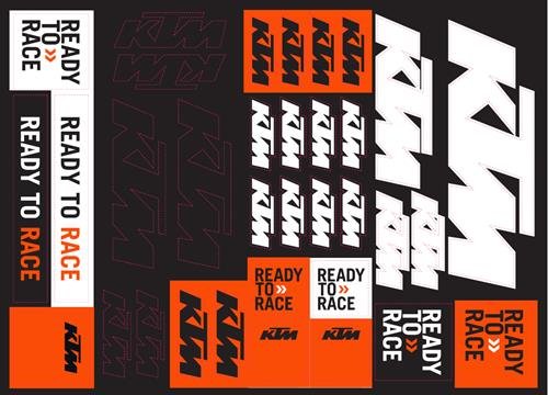 PLANCHE STICKERS KTM TEAM CORPORATE 21