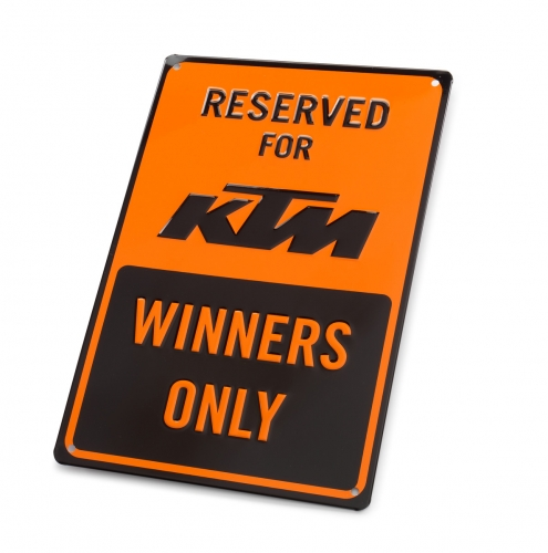 PLAQUE PARKING METAL KTM 20