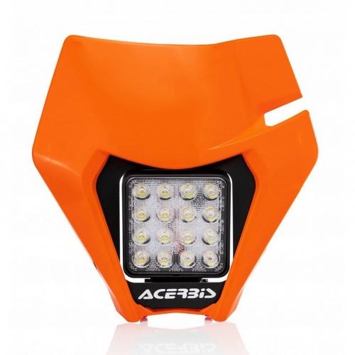 PLAQUE PHARE LED COMPLETE ORANGE KTM 250/300 EXC TPI 20/ EXC-F 20