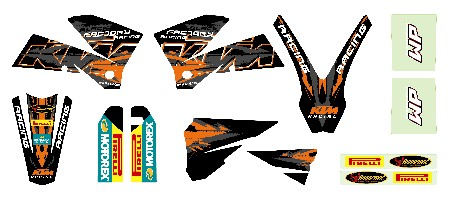racing graphic kit black