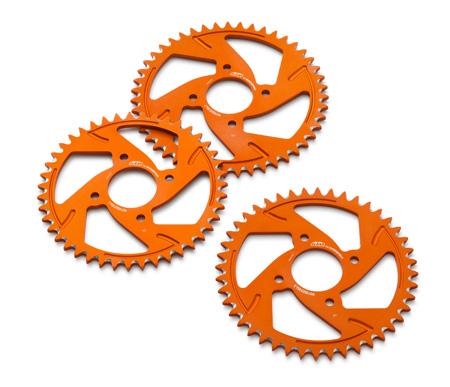 rear sprocket aluminium orange