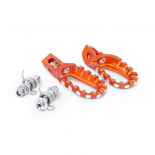 REPOSE PIEDS S3 HARDROCK ENDURO ORANGE KTM SX 98-15/EXC 98-16/ 250 SX 16