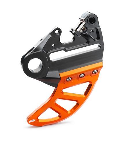 SUPPORT ETRIER FREIN PROTECTION DISQUE FREIN AR ORANGE KTM SX 04-12/EXC 04-20