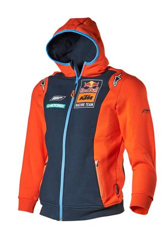 SWEAT CAPUCHE ZIPPE ENFANT KTM RED BULL REPLICA TEAM 18