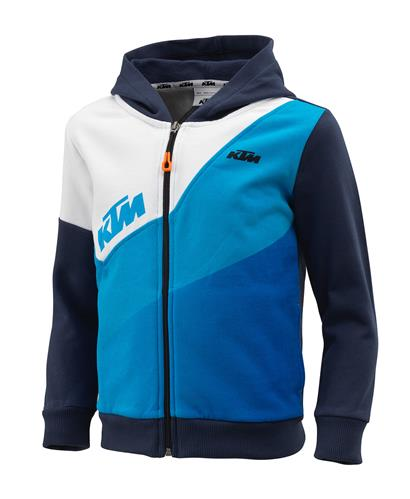 SWEAT ZIPPE CAPUCHE ENFANT KTM GRAVITY BLEU