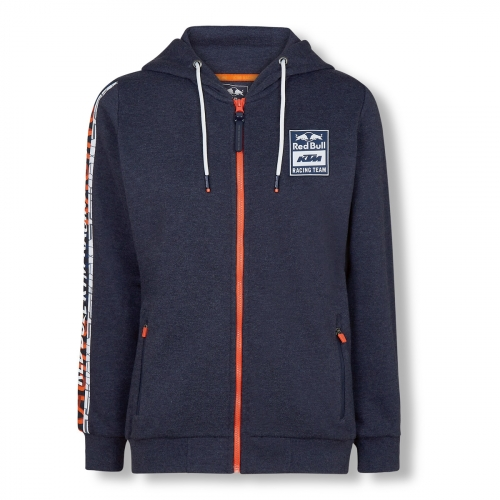 SWEAT ZIPPE CAPUCHE FEMME RED BULL KTM RACING TEAM LETRA