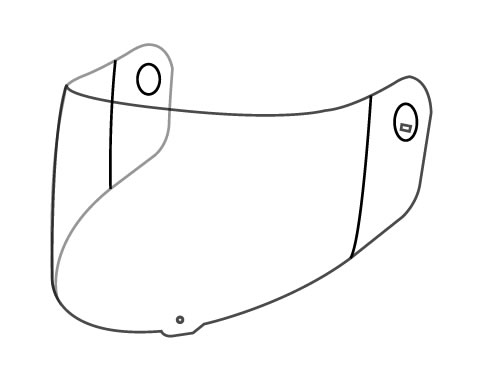 VISIERE TRANSPARANTE KTM ARAI X-BOW RACING GP-5W
